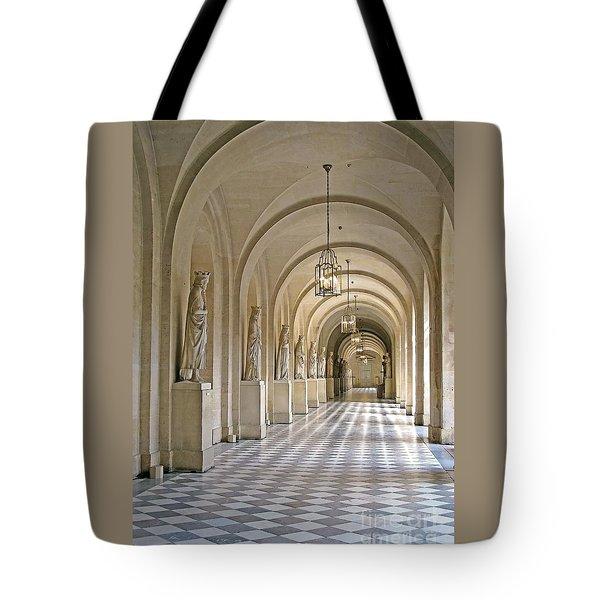 Palace Corridor Tote Bag by Ann Horn