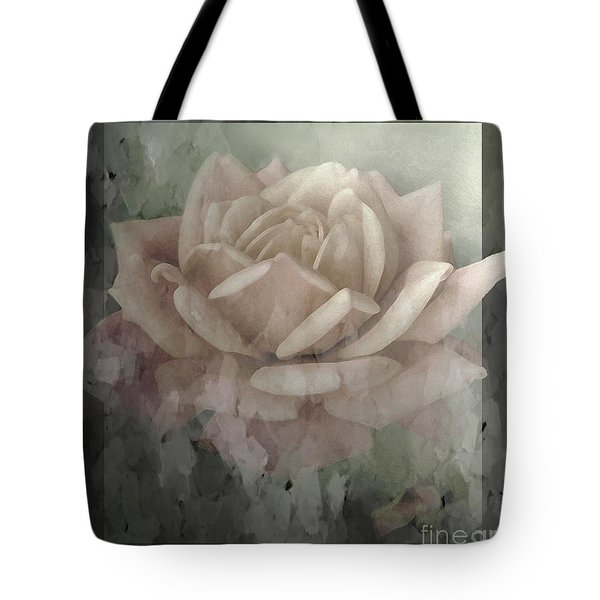 Pale Rose Photoart Tote Bag by Debbie Portwood