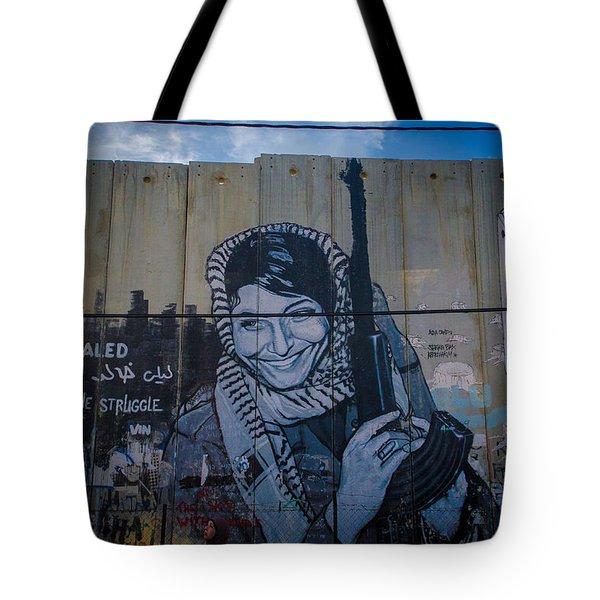Palestinian Graffiti Tote Bag by David Morefield