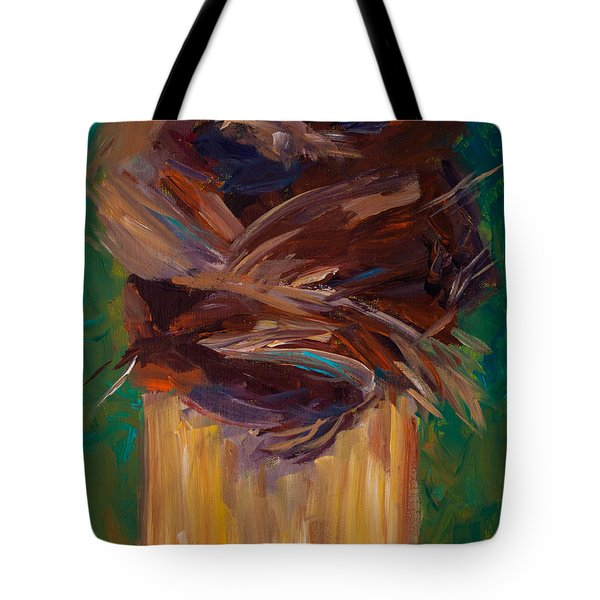 Palm Bark Tote Bag by Paulette B Wright