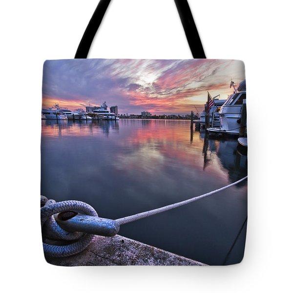 Palm Beach Harbor Tote Bag by Debra and Dave Vanderlaan