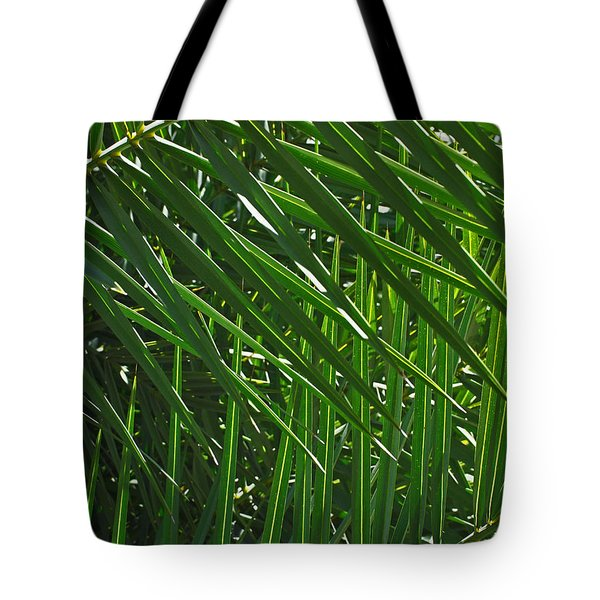 Palm Crosshatch Tote Bag by Rona Black