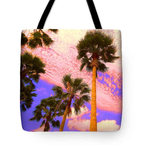 Palm In The Clouds Tote Bag by Ann Johndro-Collins