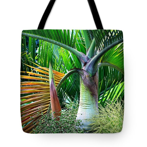 Palm Tree Inflorescence In The Rainforest  Tote Bag by Karon Melillo DeVega