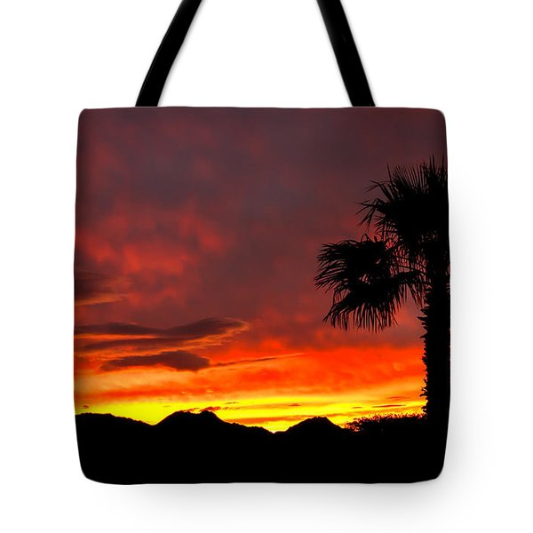 Palm Tree Silhouette Tote Bag by Robert Bales
