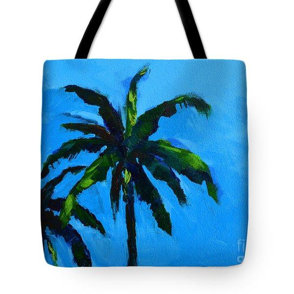 Palm Trees at Miami Beach Tote Bag by Patricia Awapara