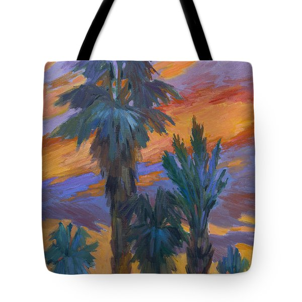 Palms And Sunset Tote Bag by Diane McClary