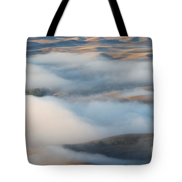 Palouse Morning Mist Tote Bag by Mike  Dawson