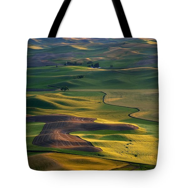 Palouse Shadows Tote Bag by Mike  Dawson