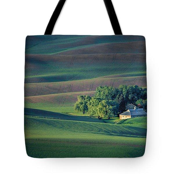 Palouse - Washington - Farms - #3 Tote Bag by Nikolyn McDonald