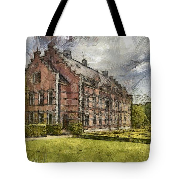 Palsjo Slott Sketch Tote Bag by Antony McAulay