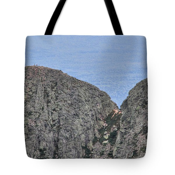 Pamola And Chimney Peaks Tote Bag by Lori Deiter