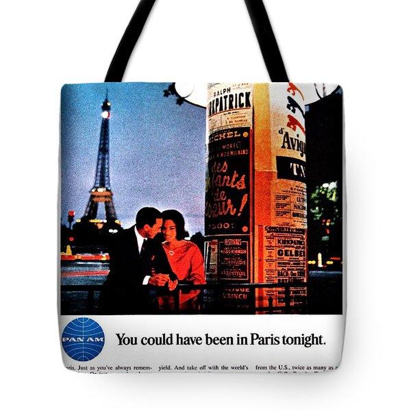 Pan Am To Paris Tote Bag by Benjamin Yeager