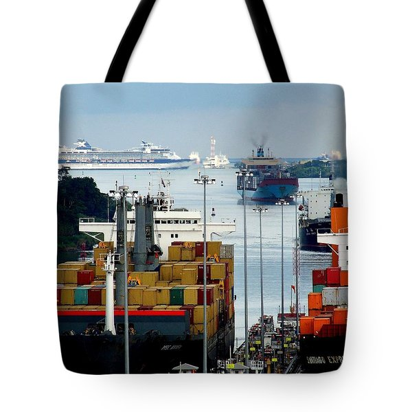 PANAMA EXPRESS Tote Bag by KAREN WILES