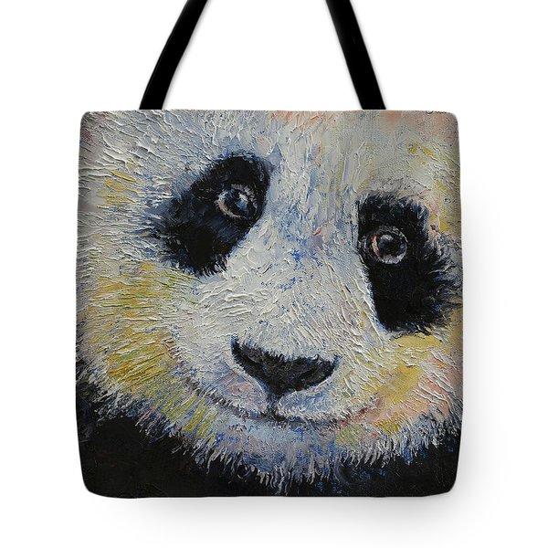 Panda Smile Tote Bag by Michael Creese