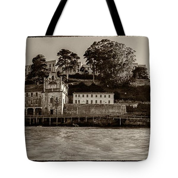 Panorama Alcatraz Torn Edges Tote Bag by Scott Campbell
