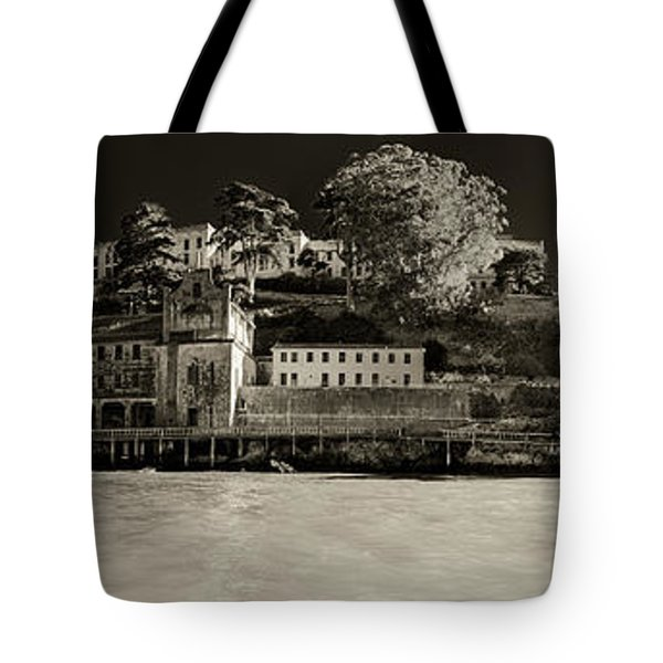 Panorama Alcatraz Up Close Tote Bag by Scott Campbell