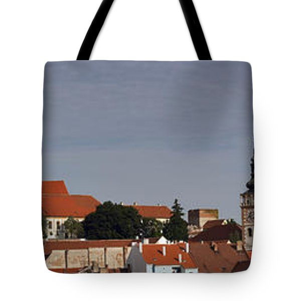 panorama - Mikulov castle Tote Bag by Michal Boubin