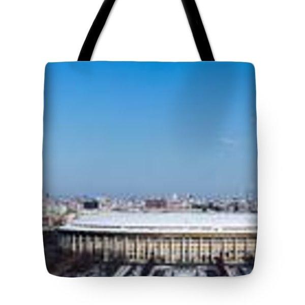 Panorama Of Moscow From Sparrow Hills - Featured 3 Tote Bag by Alexander Senin