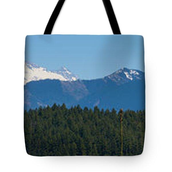Panoramic Rainier Rt.25 Tote Bag by Tikvah's Hope
