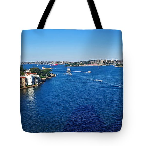 Panoramic Sydney Harbour Tote Bag by Kaye Menner