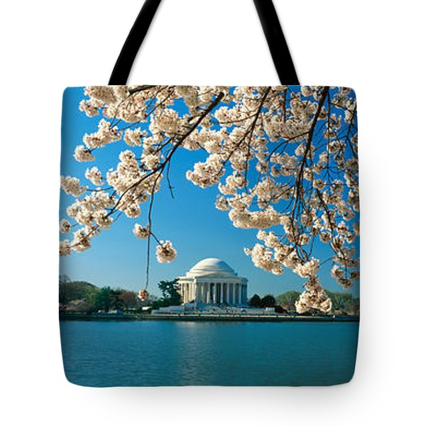 Panoramic View Of Jefferson Memorial Tote Bag by Panoramic Images