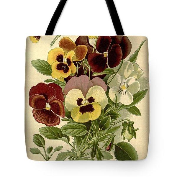 Pansies Tote Bag by Philip Ralley