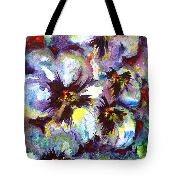 Pansies Tote Bag by Zaira Dzhaubaeva