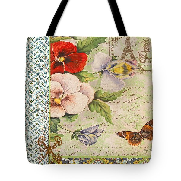 Pansy Garden-a Tote Bag by Jean Plout