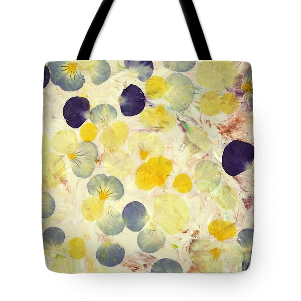Pansy Petals Tote Bag by James W Johnson