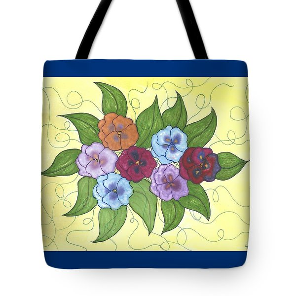 Pansy Posy Tote Bag by Susie WEBER