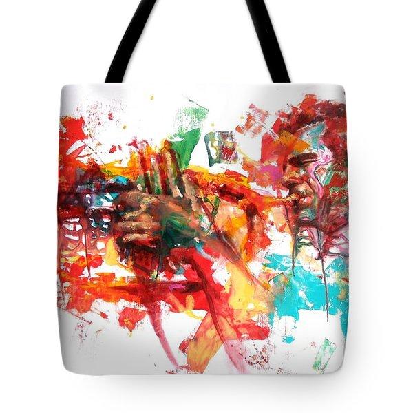 Paolo Fresu Tote Bag by Massimo Chioccia and Olga Tsarkova