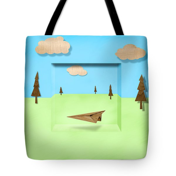 Paper Airplanes of Wood 11 Tote Bag by Yo Pedro