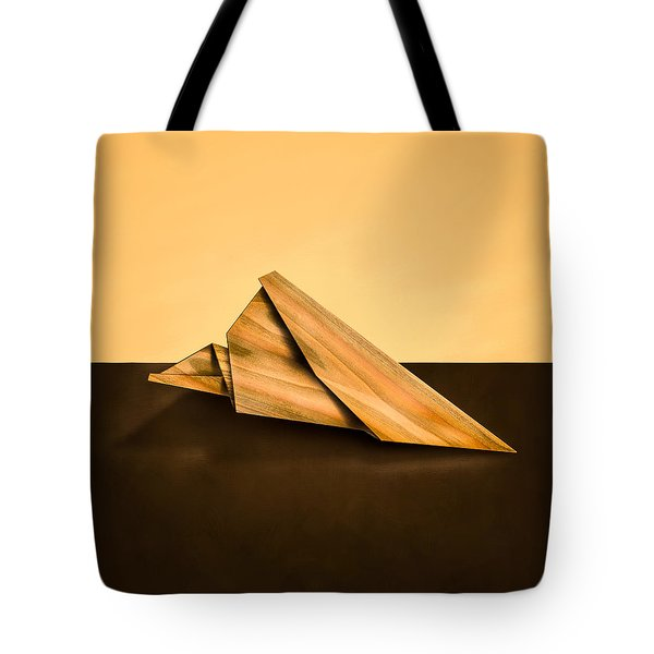Paper Airplanes Of Wood 2 Tote Bag by Yo Pedro