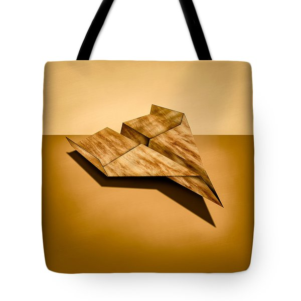 Paper Airplanes of Wood 5 Tote Bag by Yo Pedro