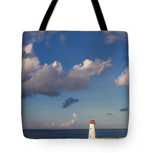 Paradise Island Lighthouse Tote Bag by Stephanie McDowell