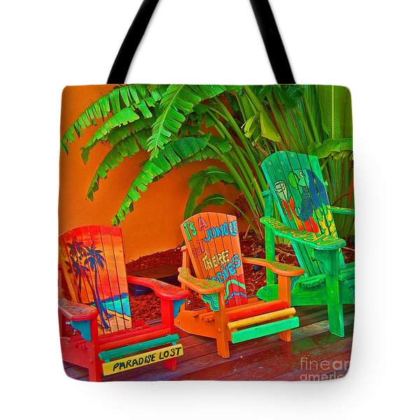 Paradise Lost Tote Bag by Debbi Granruth