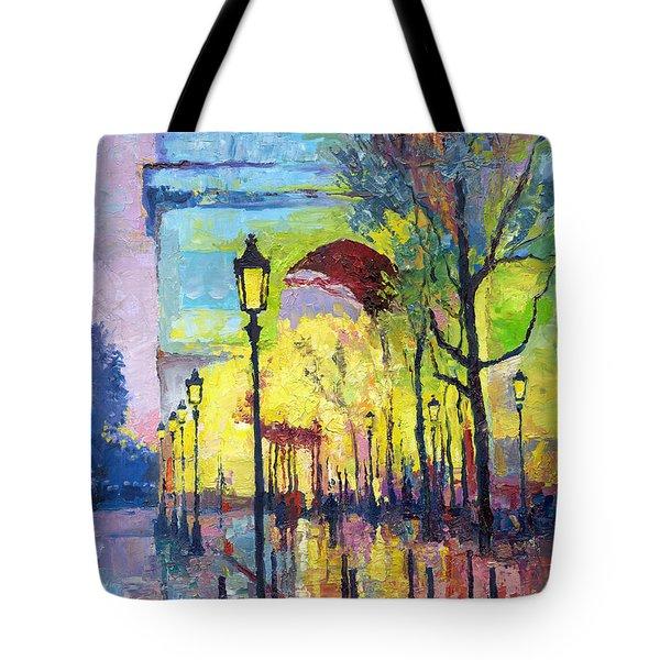 Paris Arc De Triomphie Tote Bag by Yuriy  Shevchuk