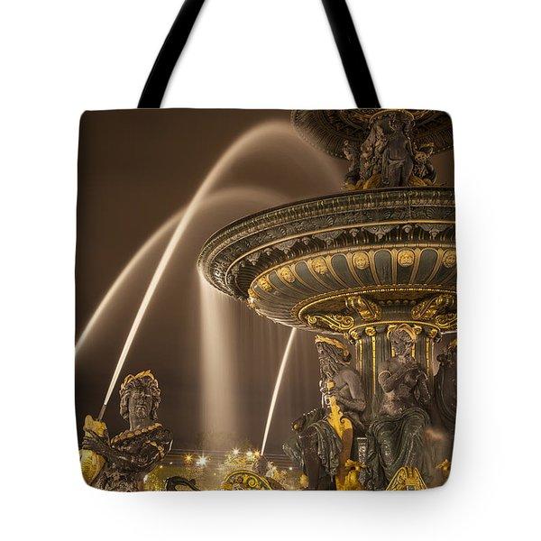 Paris Fountain Tote Bag by Brian Jannsen
