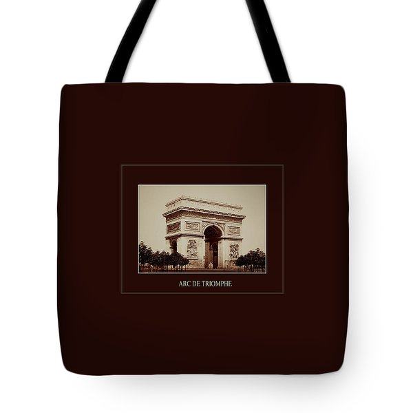 Paris Landmarks 2 Tote Bag by Andrew Fare