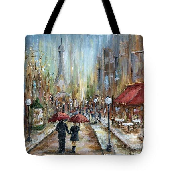 Paris Lovers Ill Tote Bag by Marilyn Dunlap