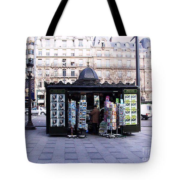Paris Magazine Kiosk Tote Bag by Thomas Marchessault