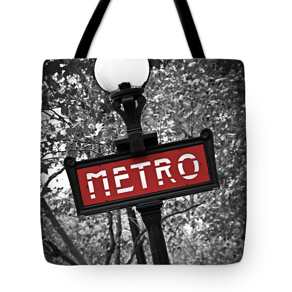 Paris metro Tote Bag by Elena Elisseeva