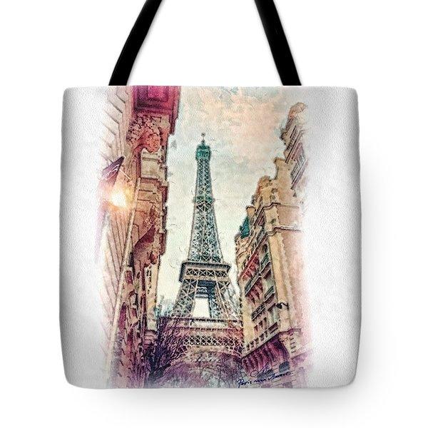 Paris Mon Amour Tote Bag by Mo T
