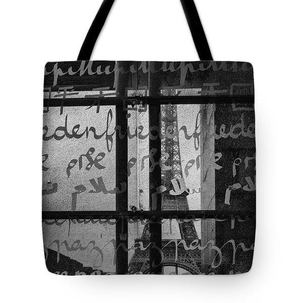 Paris Peace Wall Tote Bag by Nomad Art And  Design