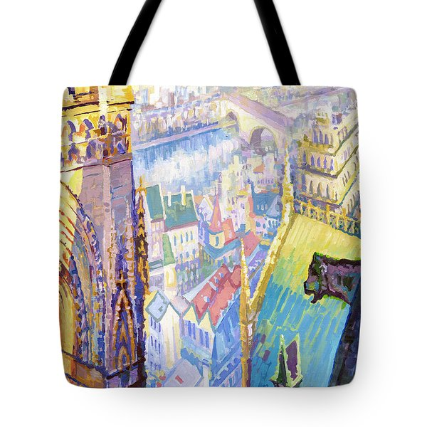 Paris Shadow Notre Dame De Paris Tote Bag by Yuriy  Shevchuk