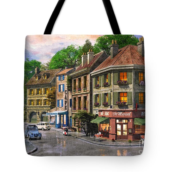 Paris Street Tote Bag by Dominic Davison