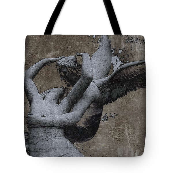 Paris - Surreal Angel Art - Eros And Psyche  Tote Bag by Kathy Fornal
