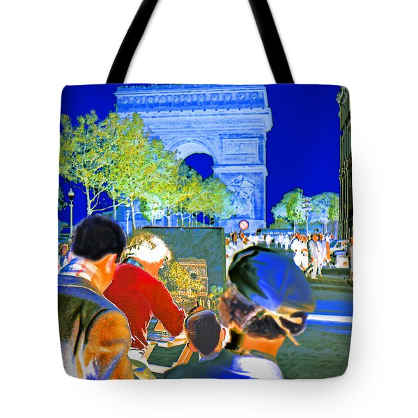 Parisian Artist Tote Bag by Chuck Staley