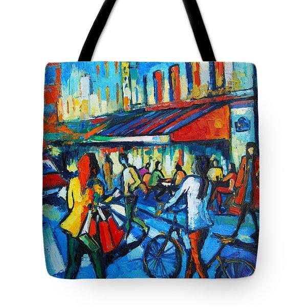 Parisian Cafe Tote Bag by Mona Edulesco